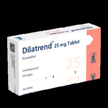 Дилатренд (карведилол) 25 мг (30 шт)