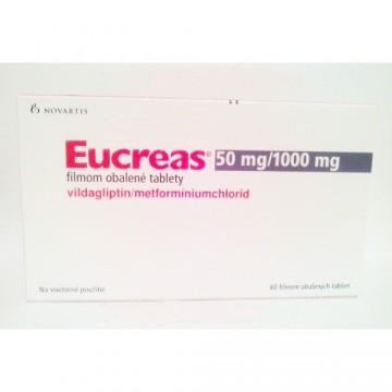 Эукреас (Eucreas) 50мг/1000мг (60шт)