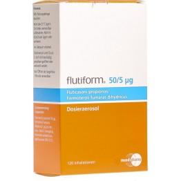 Флутиформ (Flutiform) 50 мкг/ 5 мкг, 120 доз