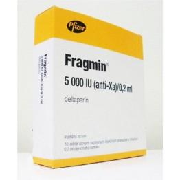 Фрагмин (Fragmin) р-р д/ин. 5000 МЕ 0.2мл №10 шприц