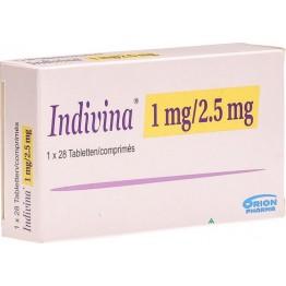 Индивина (Indivina) 1 мг + 2,5 мг (3 х 28 табл)