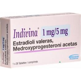 Индивина (Indivina) 1 мг + 5 мг (3 х 28 табл)