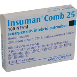 Инсуман Комб 25 сусп. 300IU (5х3мл)