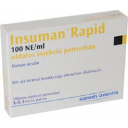 Инсуман Рапид 300IU (5х3мл)