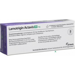 Ламотригин Актавис 50 мг (30табл)