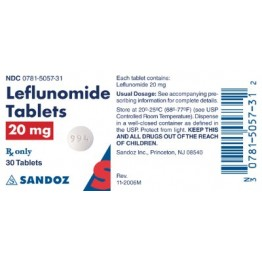 Лефлуномид (Sandoz) 20мг (30шт)