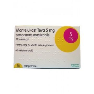 Монтелукаст Teva 5 мг, 28 таблеток