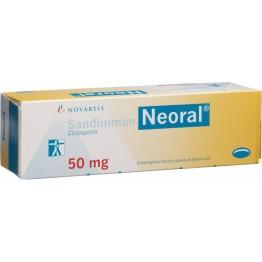 Сандиммун неорал (Sandimmun-neoral) 50 мг, 50 капсул