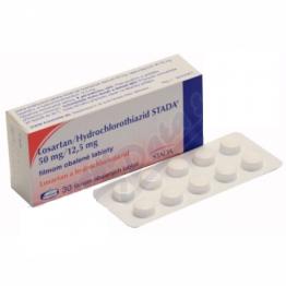 Лозартан/Гидрохлоротиазид STADA (Losartan/Hydrochlorothiazid STADA) 50 мг/12,5 мг (30 шт)