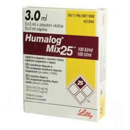 Хумалог МИКС25 (Humalog MIX25) 100 МЕ/мл, 3мл карт. №5