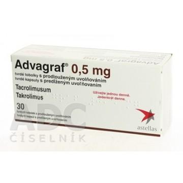 Адваграф 0,5 мг, 30 капсул