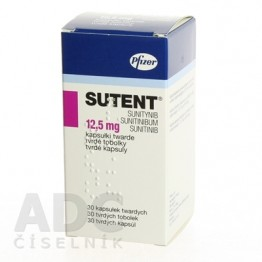 Сутент (Sutent) 12.5 мг, 30 капсул