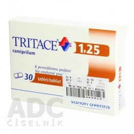 Тритаце (Tritace) 1.25 мг, 30 таблеток